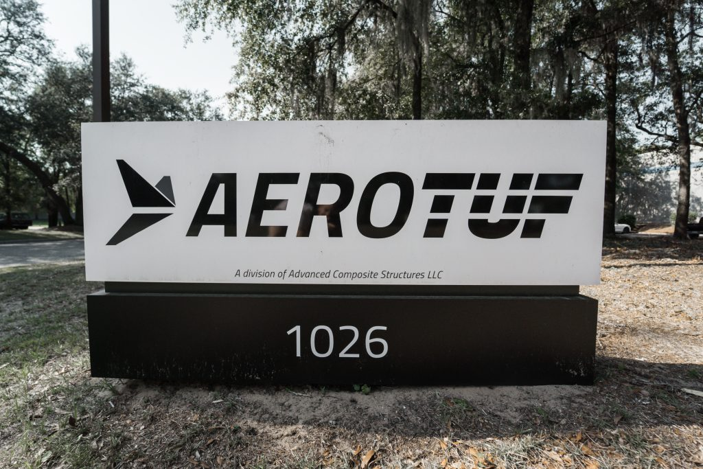 AEROTUF logo outside office in Charleston